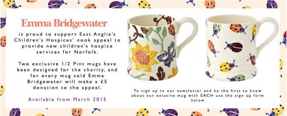 Emma Bridgewater Mugs designed for EACH