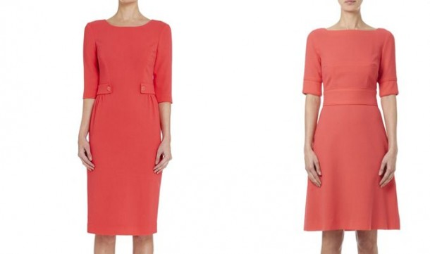 Goat dresses in coral pink