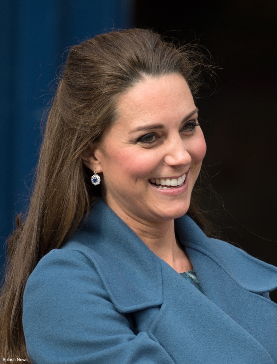 Kate Middleton's Diamond and Sapphire earrings