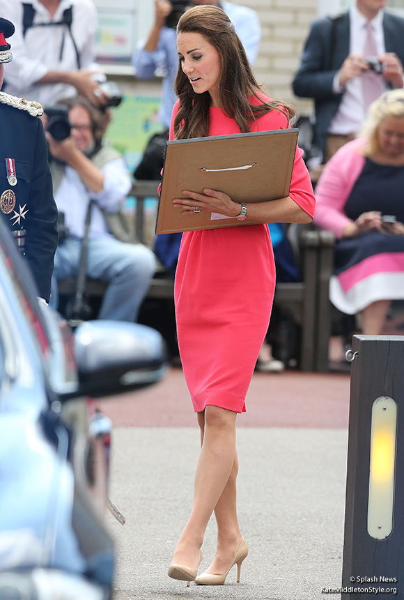 Duchess of Cambridge (Kate Middleton) wearing the Goat Scarlett Dress
