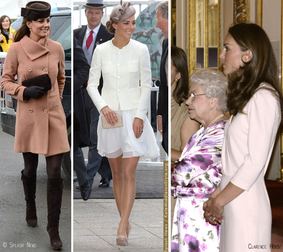The Duchess of Cambridge in a Joseph coat, jacket and dress.