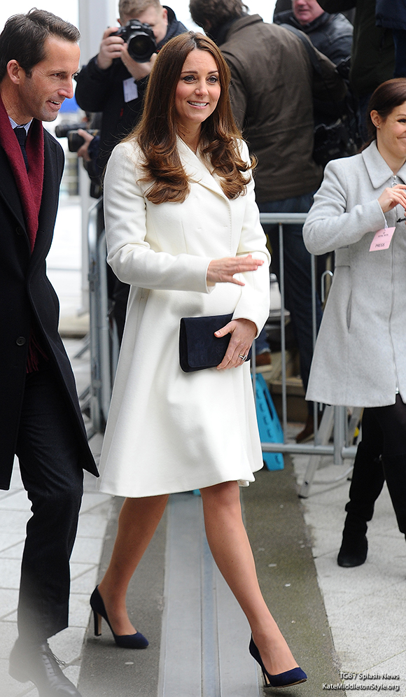Catherine, The Duchess of Cambridge seen arriving at the Spinnaker Tower in Portsmouth this afternoon