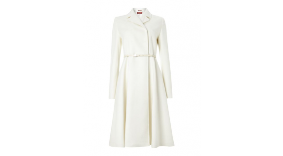 Max Mara Villar Coat in Ivory