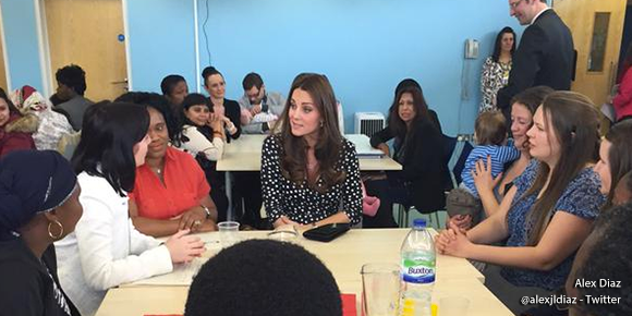 Duchess of Cambridge tours Home Start and meets families