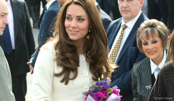 The Duchess of Cambridge visits the Downton Abbey set