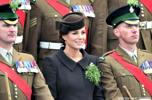 Duchess of Cambridge visits the Irish Guard