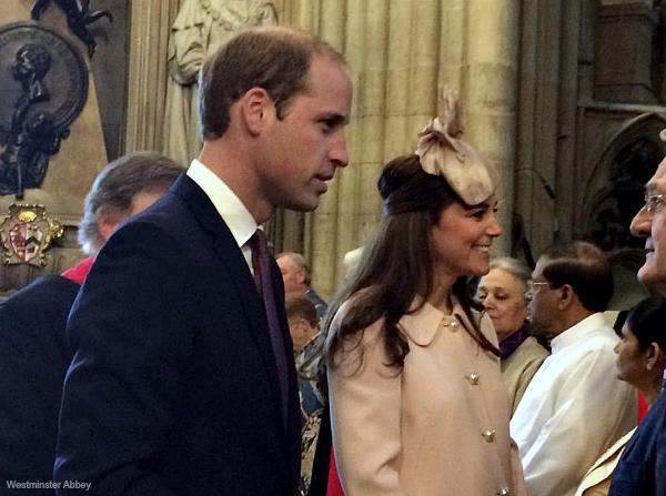 Duke and Duchess inside Westminster Abbey