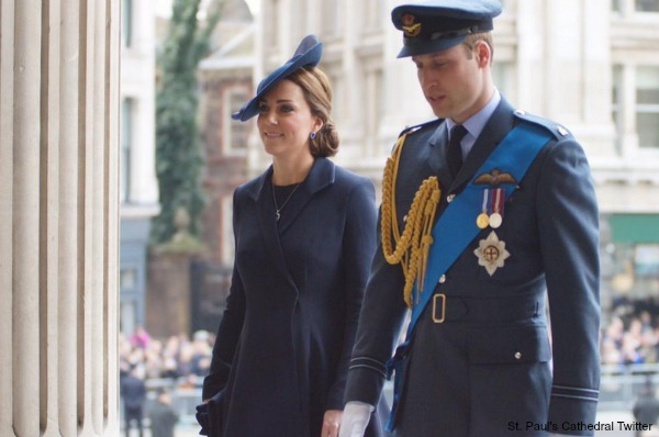 The Duke and Duchess enter St. Paul's Cathedral