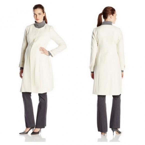 JoJo Maman Bebe Princess Line Coat in Cream