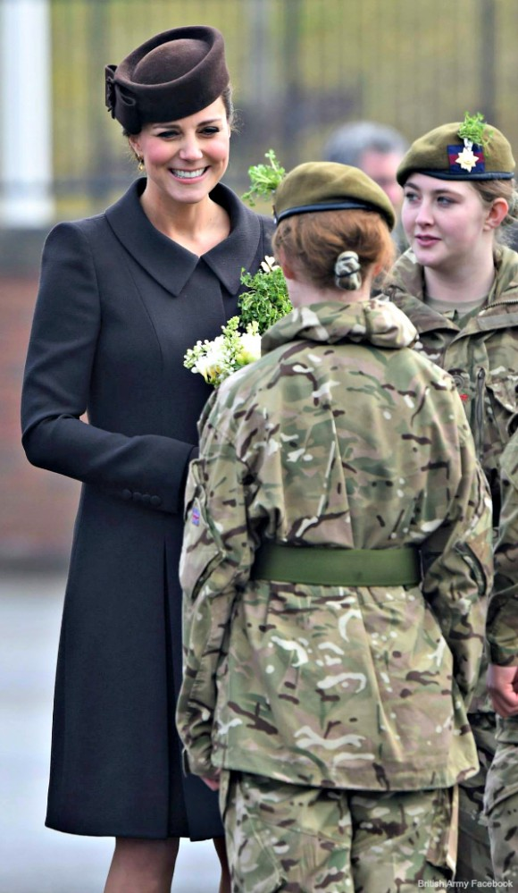 Kate meets with cadets