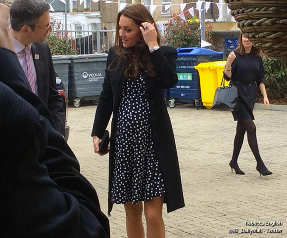 Duchess Kate arrives at Home Start wearing ASOS dress