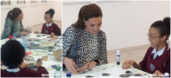 "Duchess Kate joins in with the children's ""Selfie"" project at Turner Contemporary"