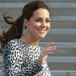 Kate recycles spotty Hobbs Dalmatian coat for Margate visit