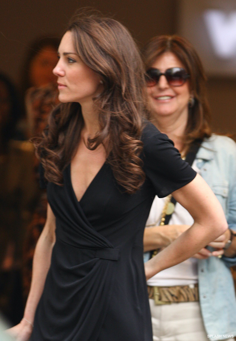 Kate Middleton wearing a black dress by Issa London back in 2011
