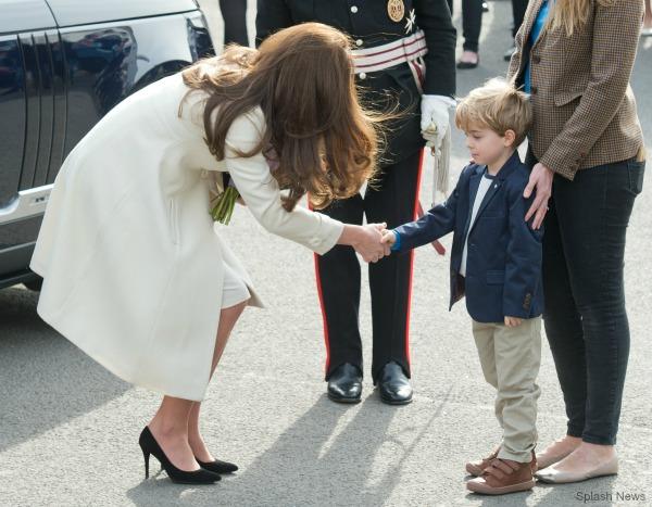Kate Middleton wears Stuart Weitzman Power pumps in black suede