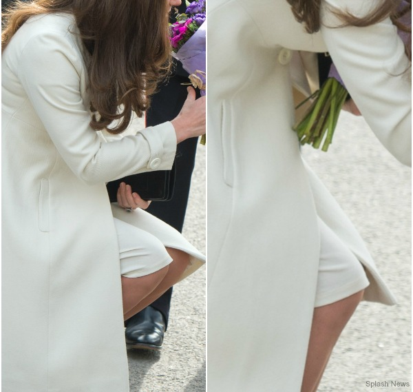 Kate's white maternity dress