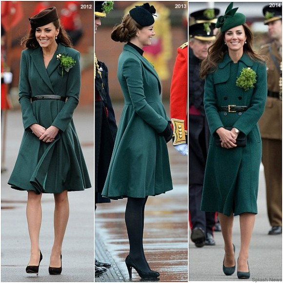 Kate's St Patrick's Day outfits
