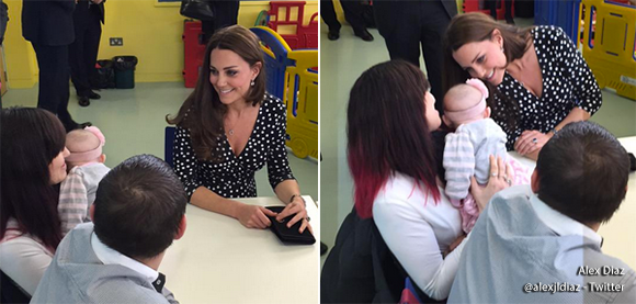 Kate meets a baby girl at home start