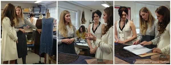 Kate tours the costume department on the Downton Abbey set
