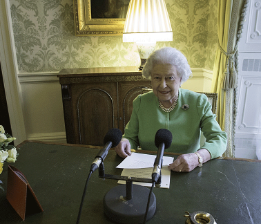 The Queen addressing the Commonwealth