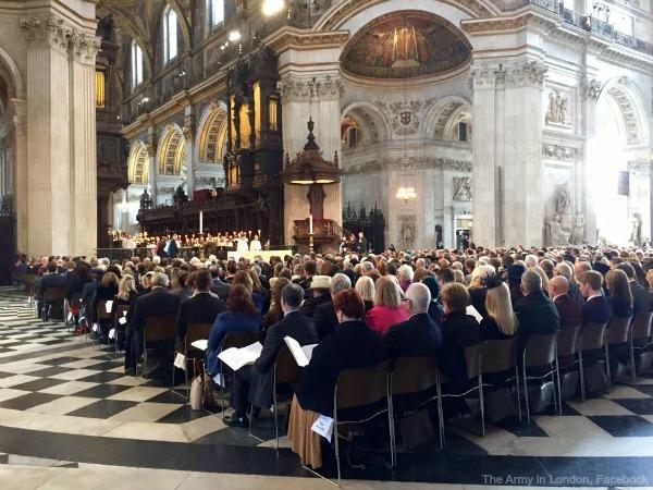 The Commemorative service inside St Paul's