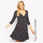 Asos Maternity Polka Dot Dress