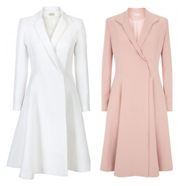 beaulah chiara coats in white and pink