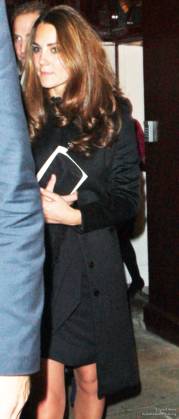 Duchess of Cambridge wears a black coat to LouLou's nightclub in 2012