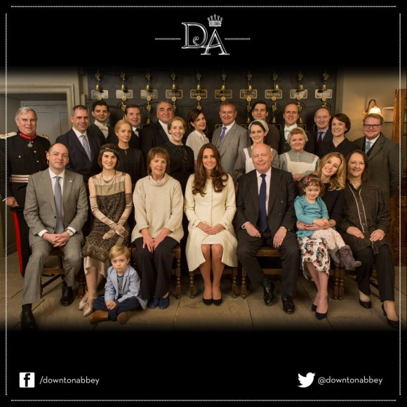 Kate meets with the cast of Downton Abbey