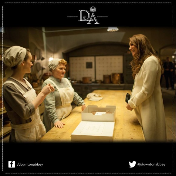 Kate meets the kitchen staff in Downton Abbey