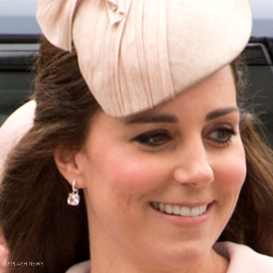Kate Middleton's pink morganite Kiki McDonough earrings