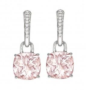 Kiki McDonough Pink Classic cushion drop earrings