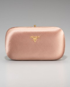Prada Raso Clutch in Pink Satin