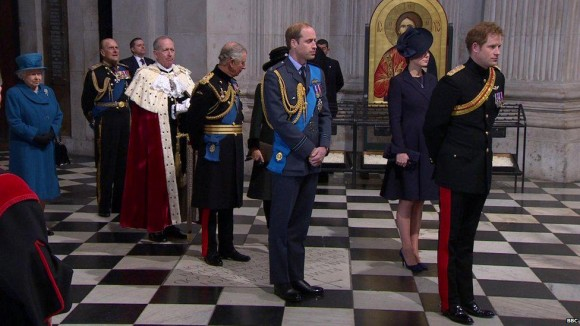 The Royals inside St. Paul's today