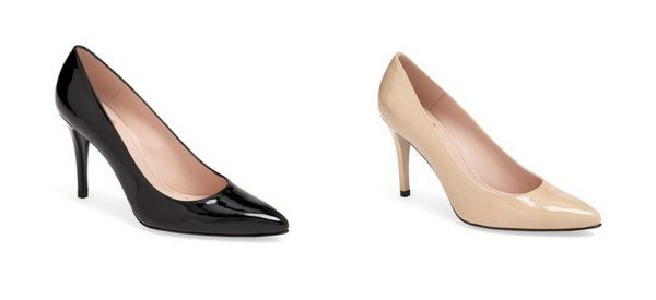 Stuart Weitzman Power in Black and Nude