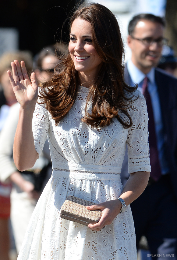Kate Middleton wearing the real Zimmerman Roamer Dress