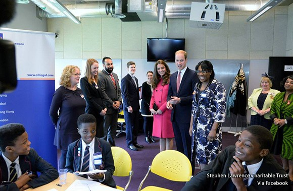 Duke and Duchess of Cambridge at the Stephen Lawrence Centre