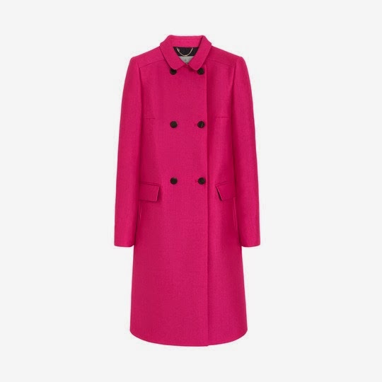 kate middleton wears a pink mulberry coat