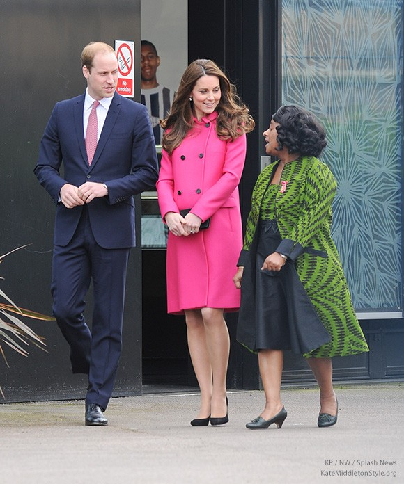 Prince William and the Duchess of Cambridge with Stephen Lawrence's mother