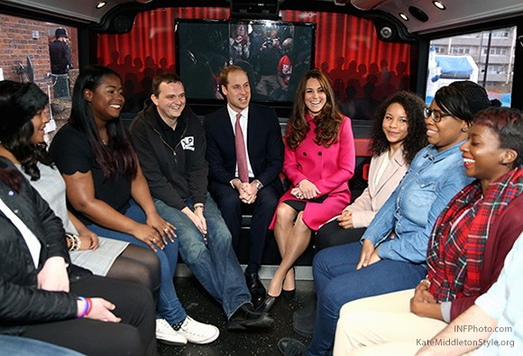 William and Kate on the XLP bus