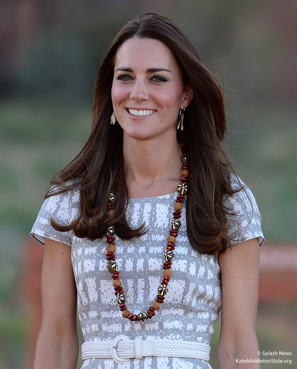 Duchess wearing the Hobbs Wessex dress