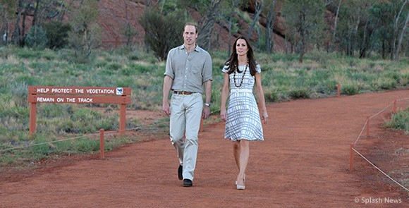 The Duchess of Cambridge Visited Uluru wearing the Hobbs Wessex Dress