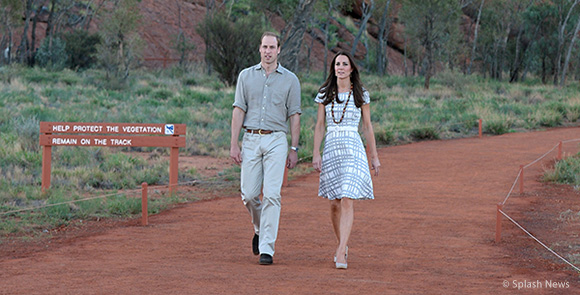 The Duchess of Cambridge wore the pied a terre imperia wedges visiting Uluru in Australia