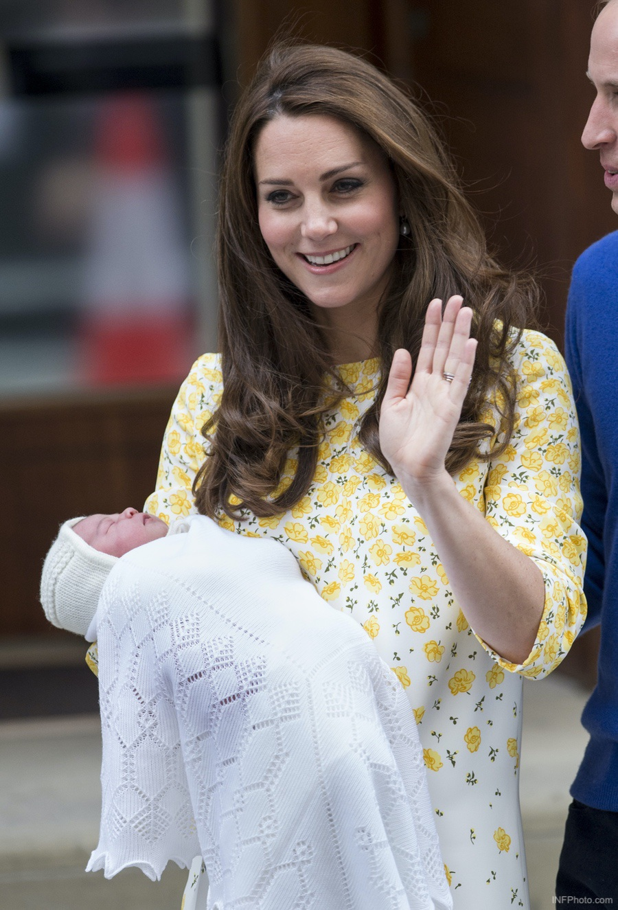 Kate Middleton holding her baby, Princess Charlotte of Cambridge