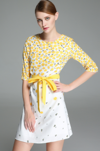 Yellow and white buttercup dress
