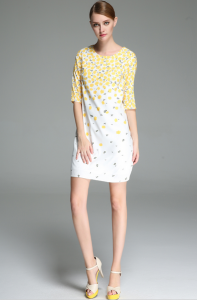 Yellow and White buttercup dress copy