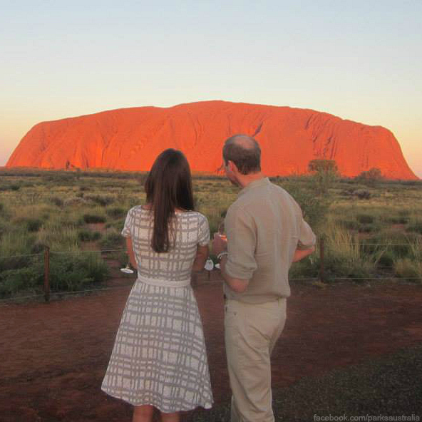 William and Kate visit Uluru