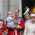 Prince George Waves on the Balcony of Buckingham Palace at Trooping the Colour 2015