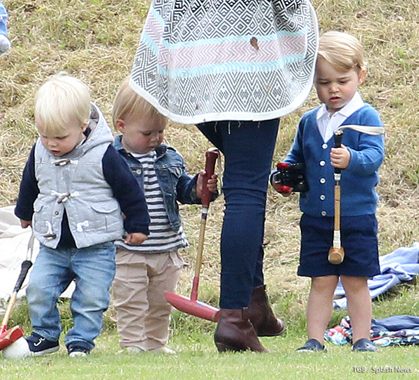Prince George playing with friends