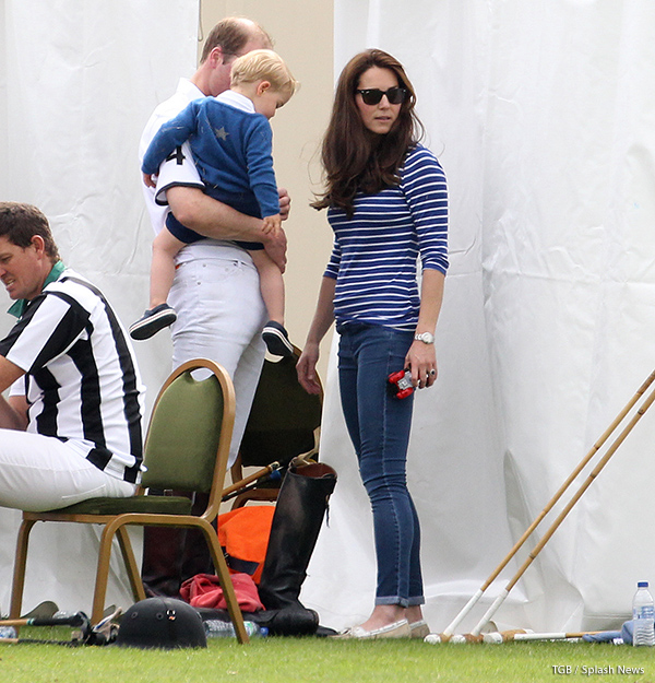 Kate Middleton wearing her Ray-Ban Wayfarer folding sunglasses during a polo match